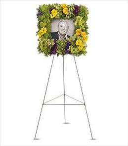 Photo of Richly Remembered Photo Square Wreath - T255-2