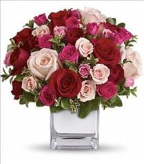 Photo of Love Medley Bouquet with Red Roses  - T400-2