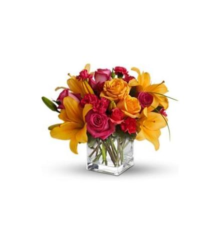 Photo of flowers: Uniquely Chic Cube Vase