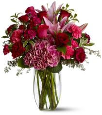 Photo of Burgundy Blush Vase Teleflora - TFWEB364
