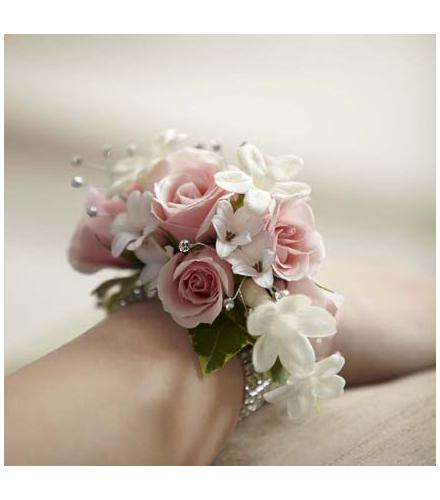 Photo of flowers: The FTD Pure Grace Wrist Corsage