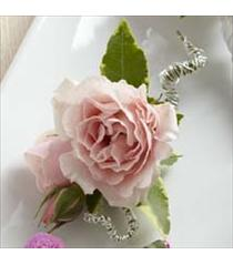 Photo of The FTD Pink Spray Rose Boutonniere - W17-4664