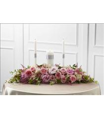 Photo of The FTD Worldwide Romance Unity Candle Arrangement - W18-4668