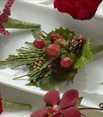 Photo of The FTD Red Berry Boutonniere - W54-4751