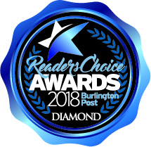 2018 Burlington Post Readers Choice Award Logo