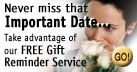 Sign up for our FREE Gift Reminder service.