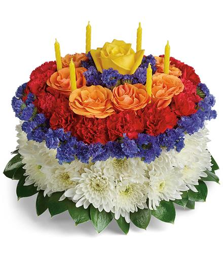 Photo Of Flowers Your Wish Is Granted Birthday Cake Bouquet TBC06 1
