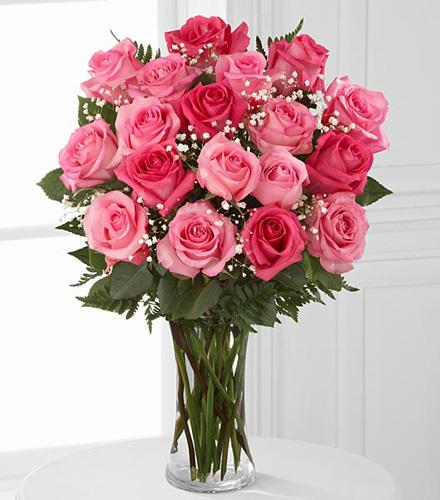 Pink Rose Bouquet 12, 18, OR 24